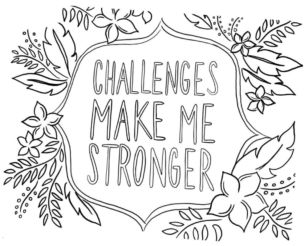 20 Free Printable Growth Mindset Coloring Pages