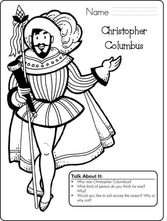 20 Free Printable Columbus Day Coloring Pages