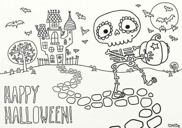 30 Cute Halloween Coloring Pages For Kids