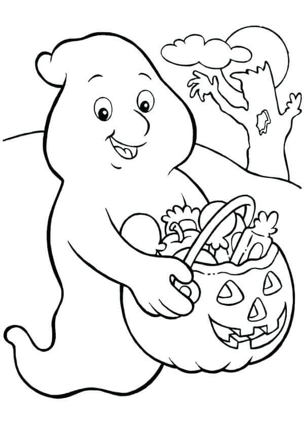 30 Free Ghost Coloring Pages Printable