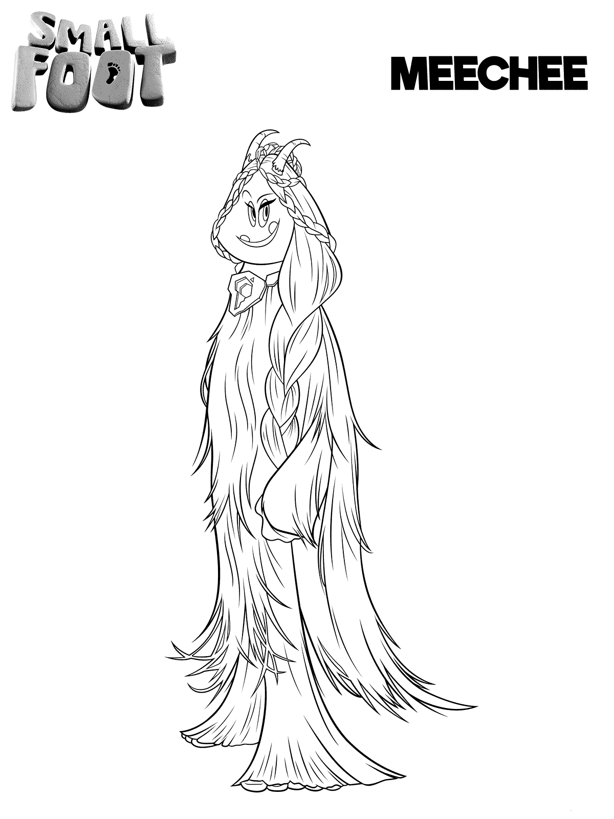 Smallfoot Coloring Pages