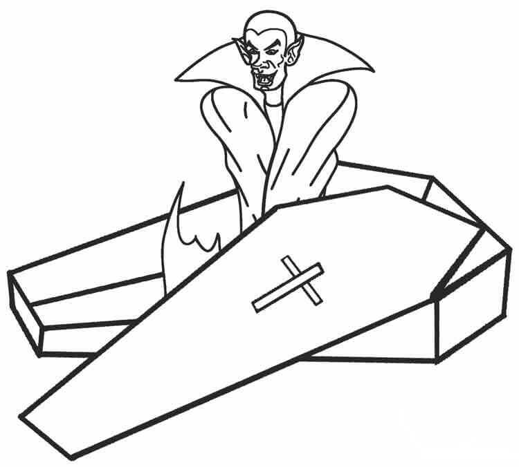 30 Free Printable Vampire Coloring Pages