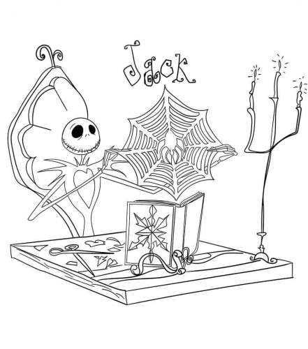 Nightmare Before Christmas Coloring Sheets Printable