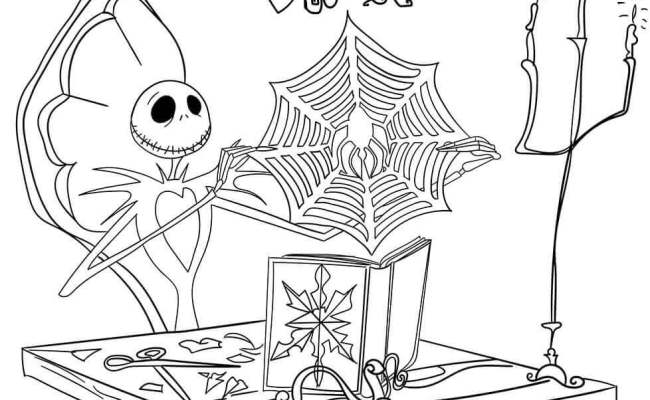 Free Nightmare Before Christmas Coloring Pages Printable Coloring Home Dubai Khalifa