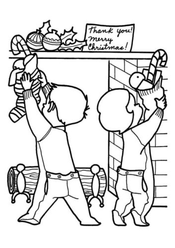 christmas stockings coloring pages # 73