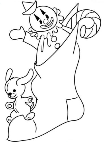 christmas stockings coloring pages # 49
