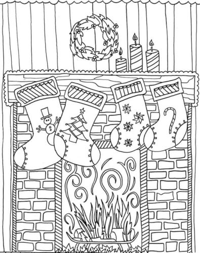 30 Free Christmas Stockings Coloring Pages Printable