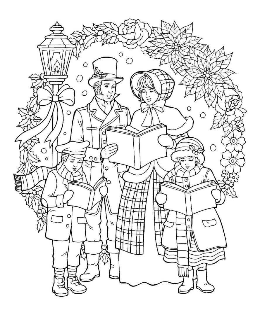 27 Free Christmas Carol Coloring Pages Printable