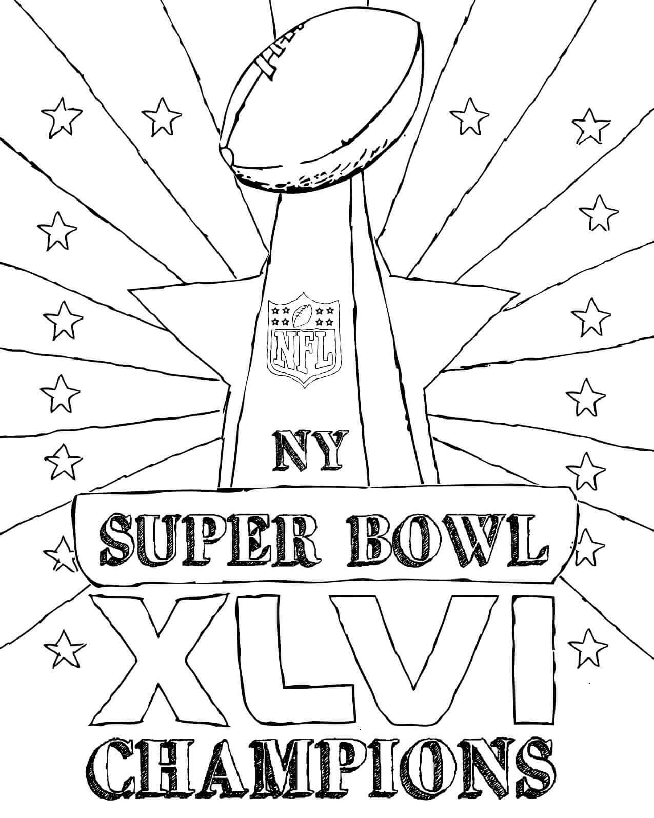 15 Free Super Bowl Coloring Pages Printable