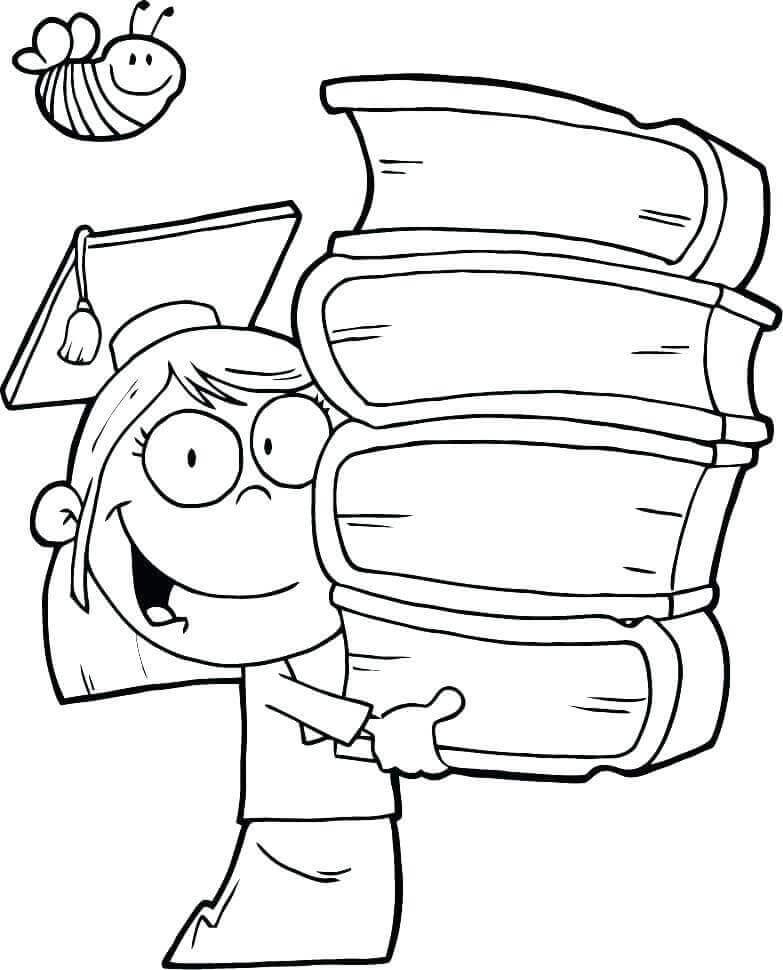 20 Free Kindergarten Graduation Coloring Pages Printable