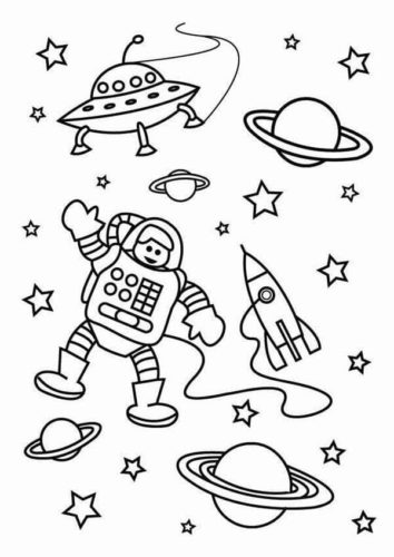 20 Free Space Coloring Pages Printable