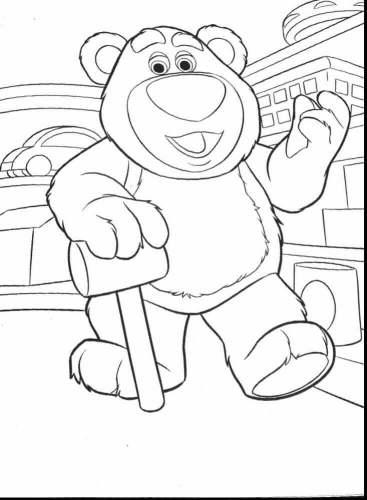 Lotso Hugging Bear Coloring Page