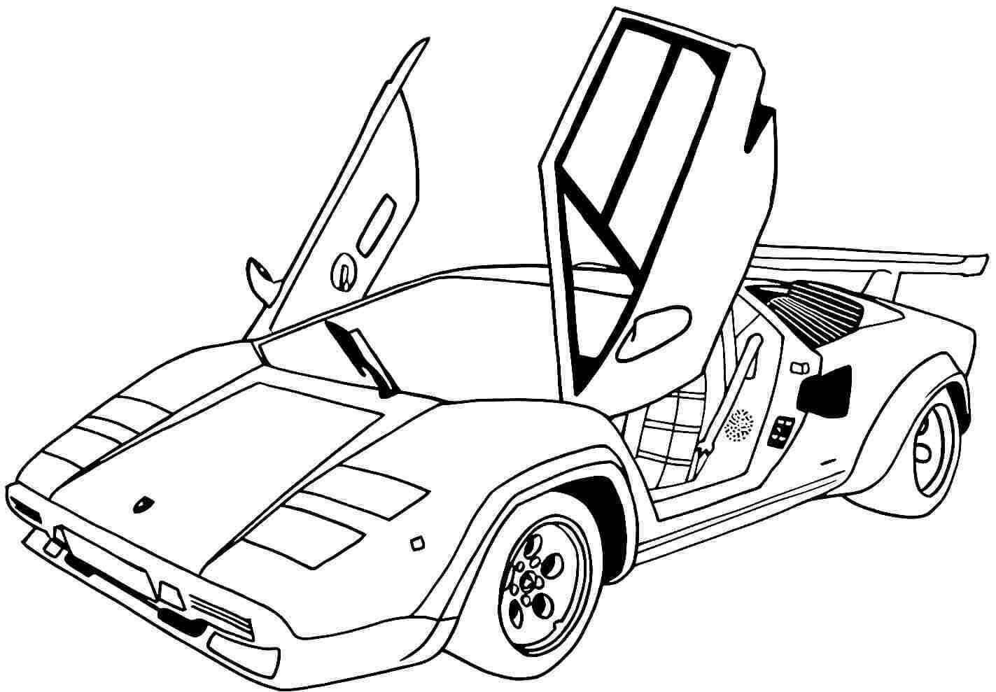 20 Free Lamborghini Coloring Pages Printable