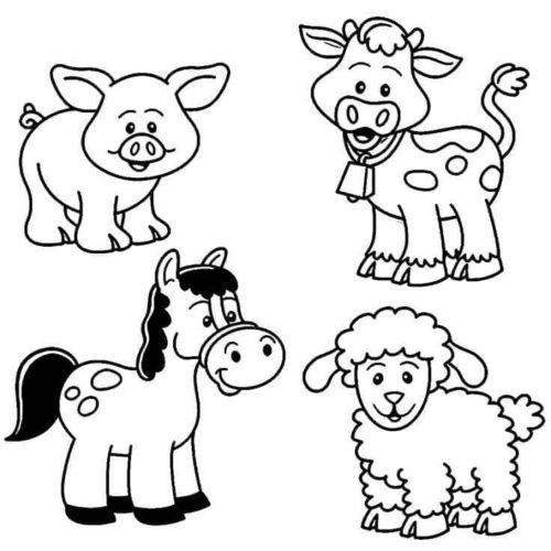 25 Free Farm Animal Coloring Pages Printable