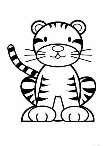 Tiger coloring pages for preschoolers