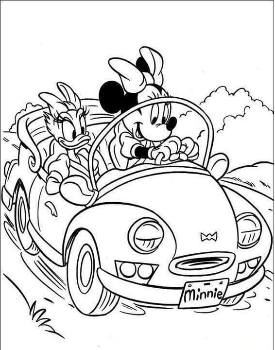 Minnie And Daisy Going On An Outing