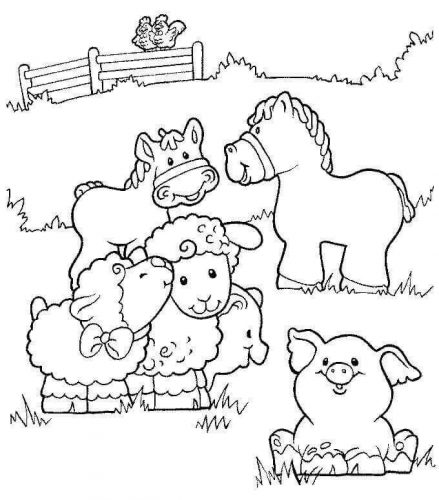 30 Free Farm Coloring Pages Printable
