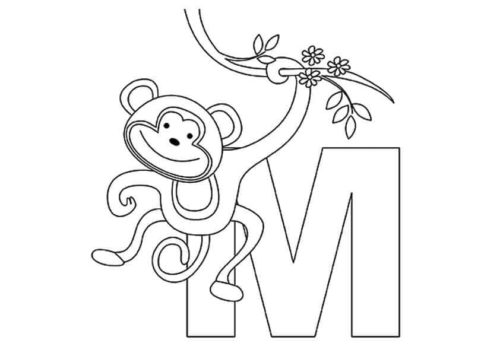 35 Free Monkey Coloring Pages Printable