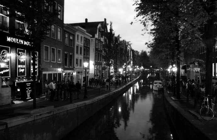 Red Light district in B&W