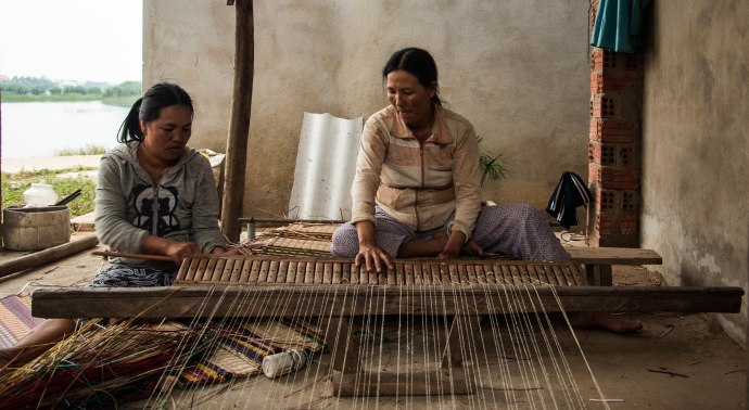 The making of a traditional sleeping mat