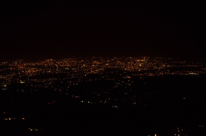 The view of the Dehradun lights from Mussorie