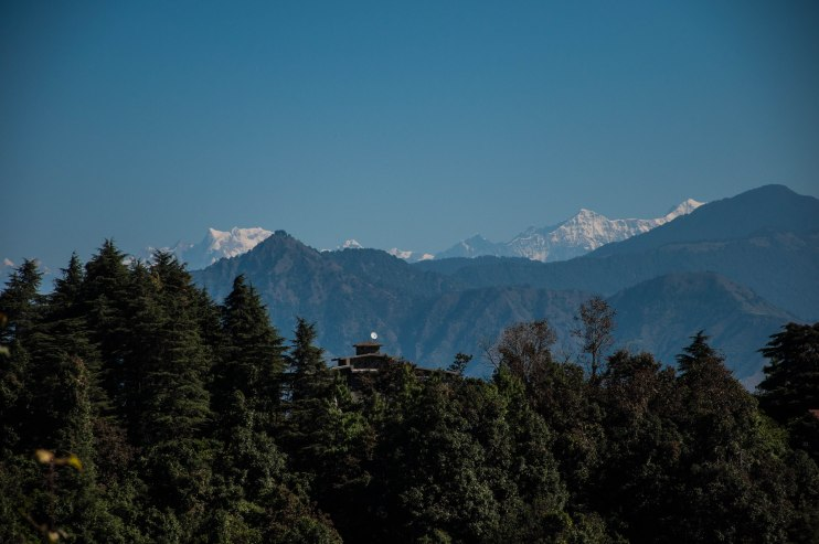 View of the Himalayas from George Everest's House in Landour