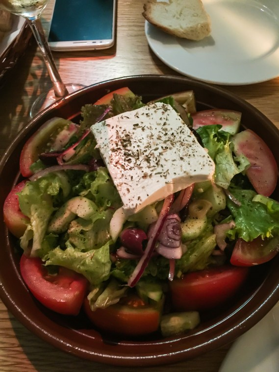 Greek salad at Saffron