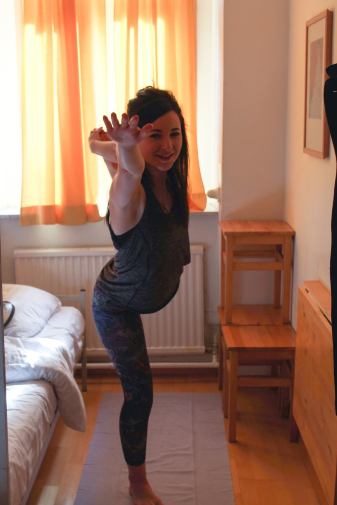 See, you can even do yoga in a hostel