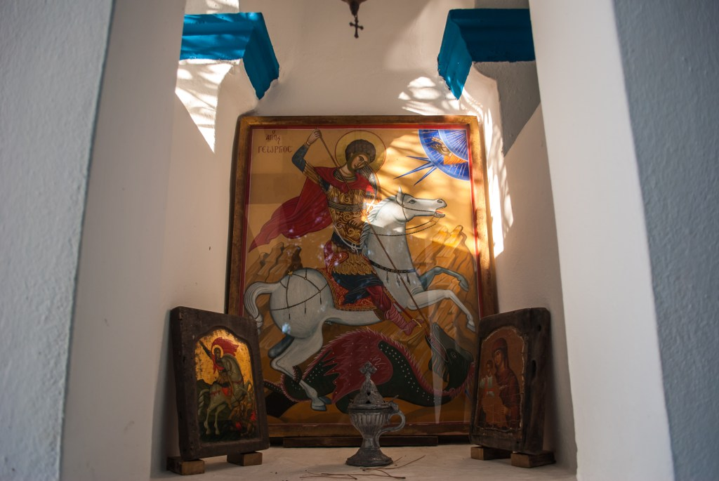 Greek Orthodox icons at Atsitsa