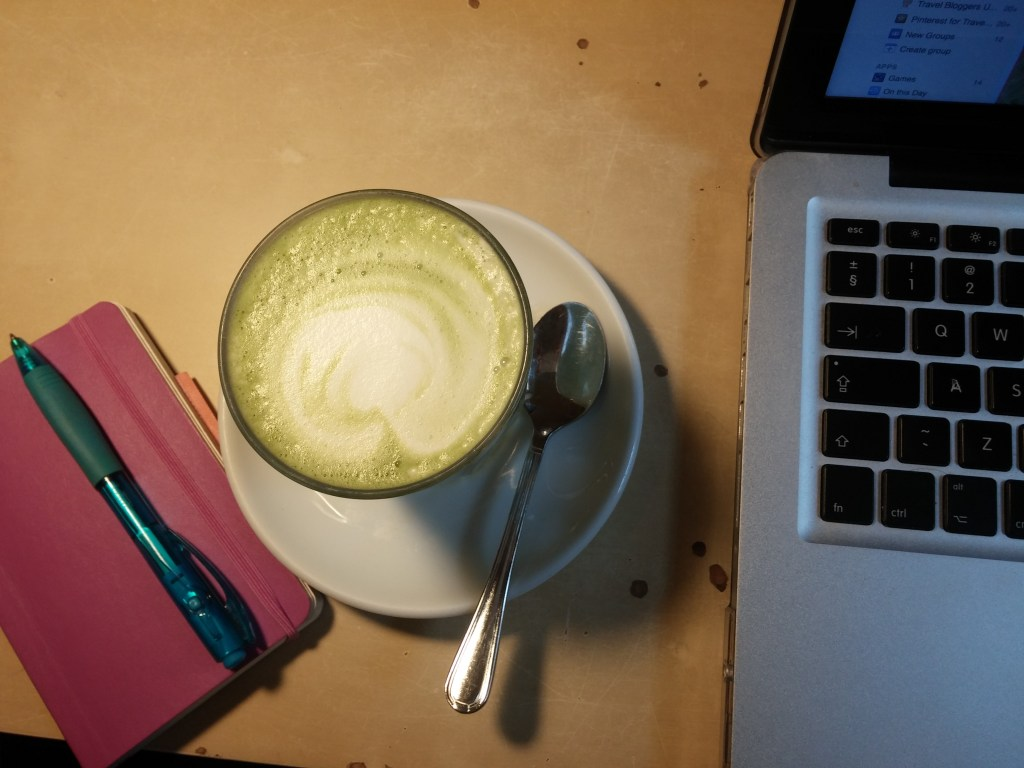 Work with a side order of matcha latte