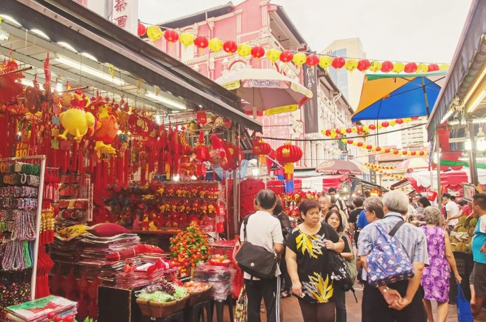 Singapore Chinatown Chinese New Year Market 2017.