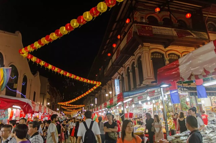 Singapore Chinatown Chinese New Year Street Market 2017.