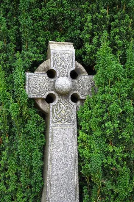 A Celtic Cross Grave