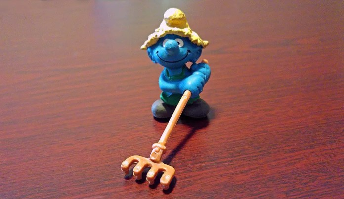 Farmer smurf. I love the Smurfs!