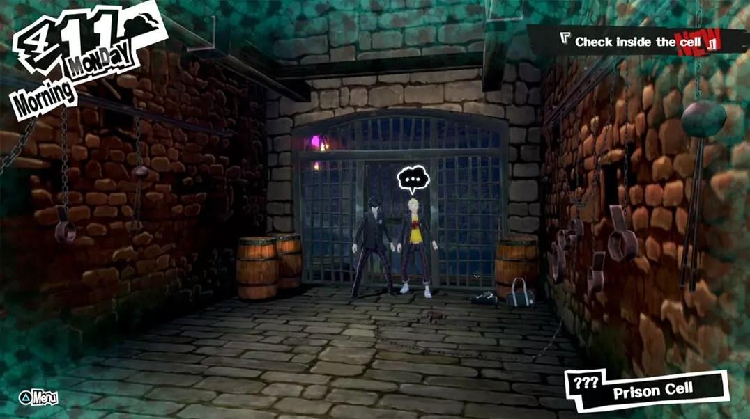 Persona 5 Kamoshida's Castle Jail.