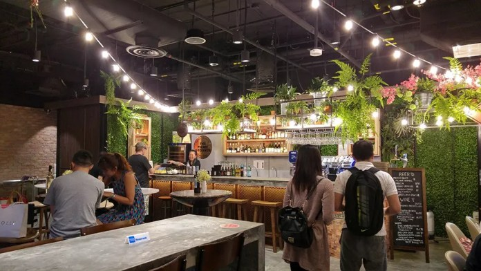 Coffee and Beer area at Picnic Urban Food Park, Singapore.