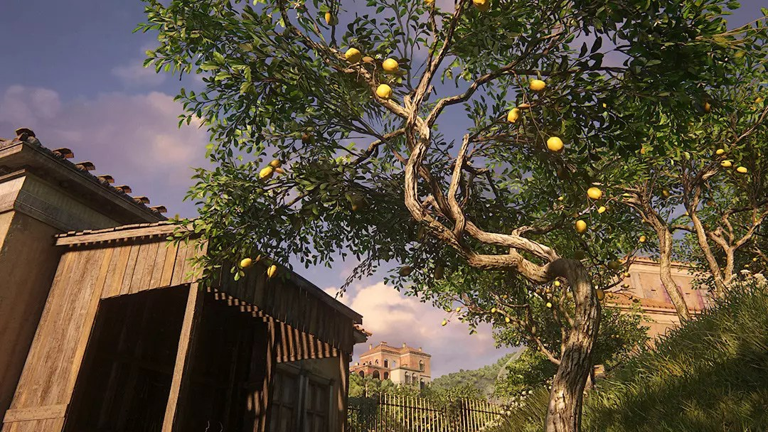 Uncharted 4 Rossi Estate Garden and Lemon Tree.