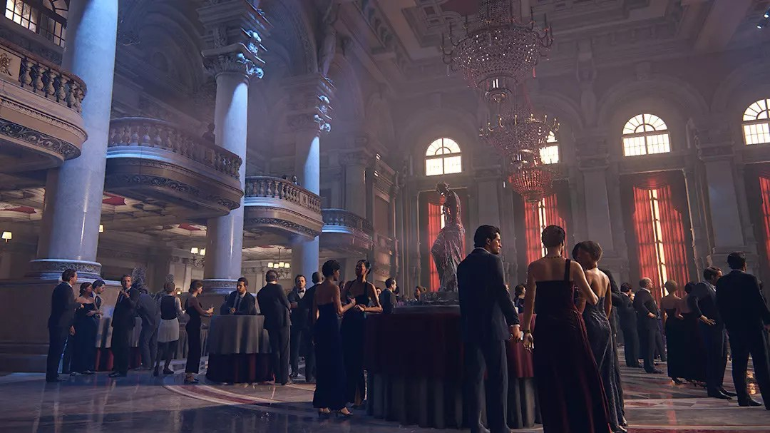 Uncharted 4 Rossi Estate Ballroom.