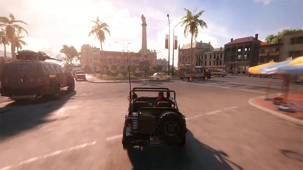 Uncharted 4 Car Chase.