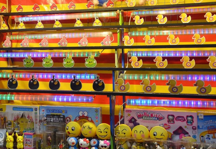 Carnival games in Singapore.