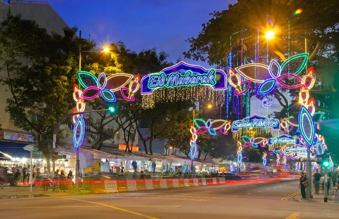 Geylang Serai Hari Raya Festive Light Up 2017.