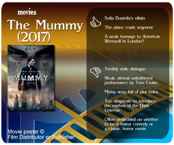 The Mummy (2017) review - 3 thumbs up and 5 thumbs down.