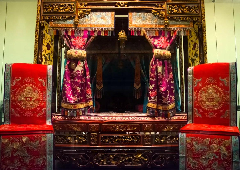 Peranakan Wedding Chamber at Peranakan Museum, Singapore.