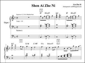 深愛着你電子琴琴譜下載   Free Yamaha Electone Stagea ELS-02C Score