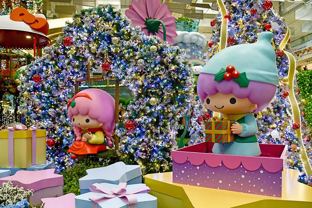 Sanrio Characters at Changi Airport T3.