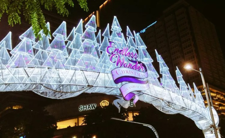 Orchard Road Christmas Light-Up 2017.