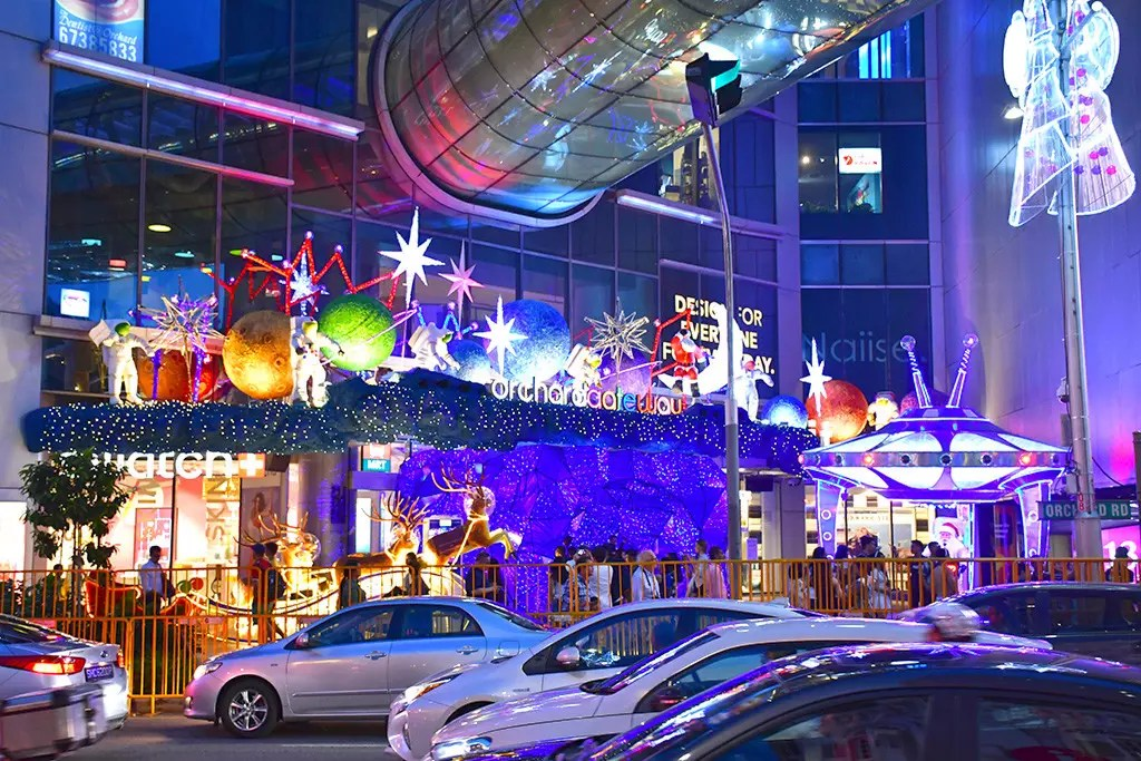 An Extracelestial Christmas at Orchard Gateway.