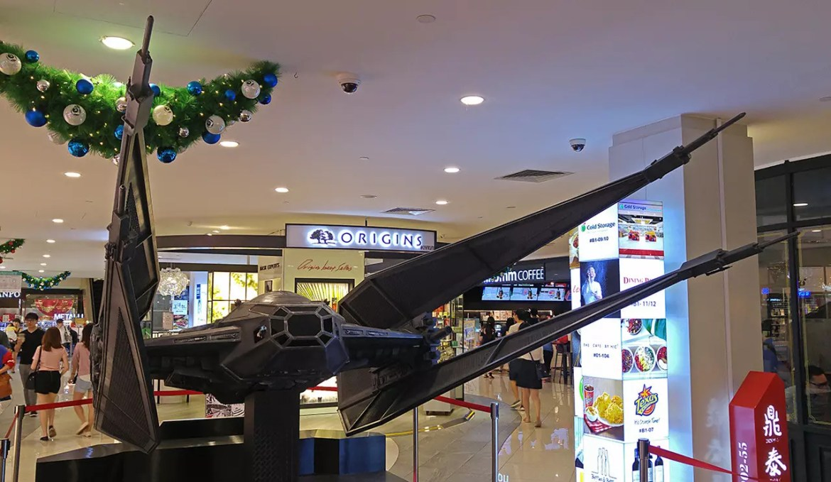 Kylo Ren's Tie Fighter at The Centrepoint, Singapore