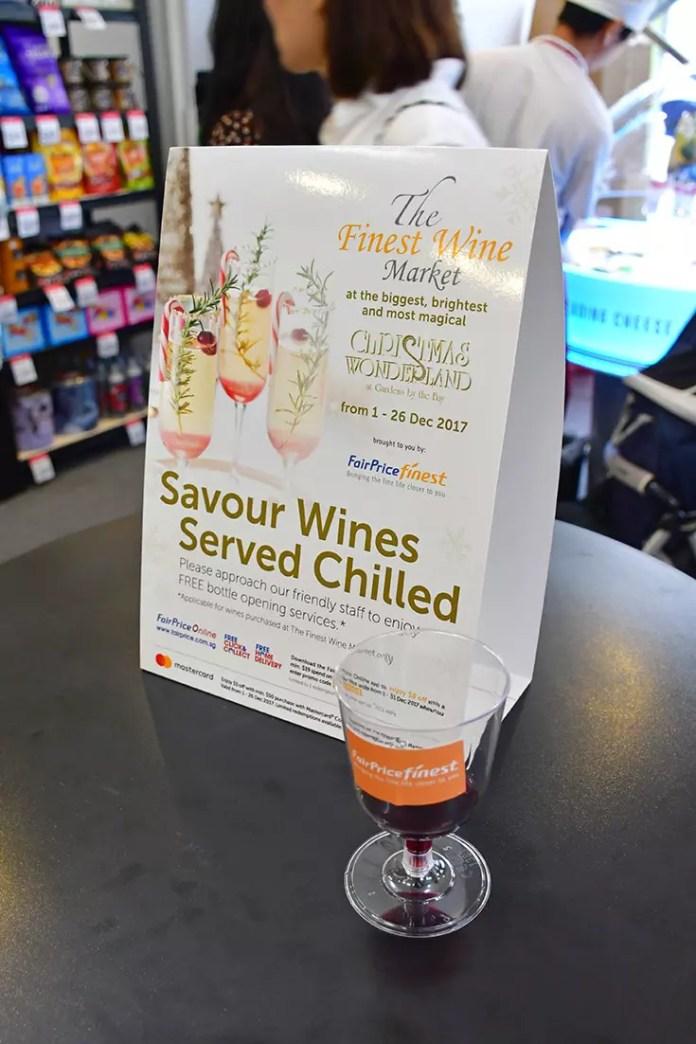 NTUC Fairprice Finest wine tasting.