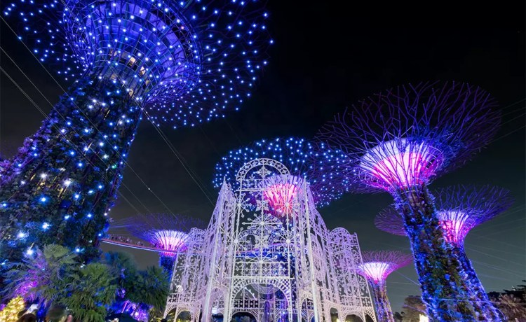 Gardens by the Bay Christmas Wonderland 2017.